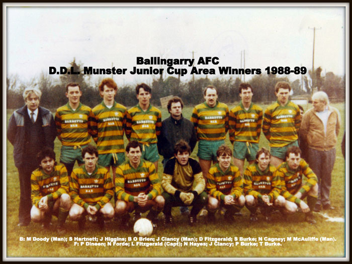 MJC area winners 1988/89