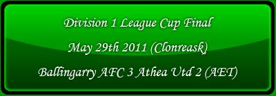 Division 1 League cup final 2011